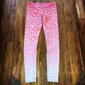 Alo yoga airbrush jungle ombré print M pink cream